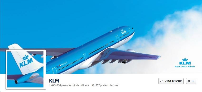 KLM Facebook omslagfoto