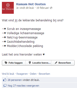 Feedback vragen via social media marketing facebook