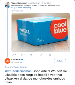 Coolblue marketing likeable doos