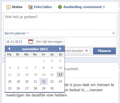 Update 1: Nieuwe manier van klaarzetten van Facebook-berichten