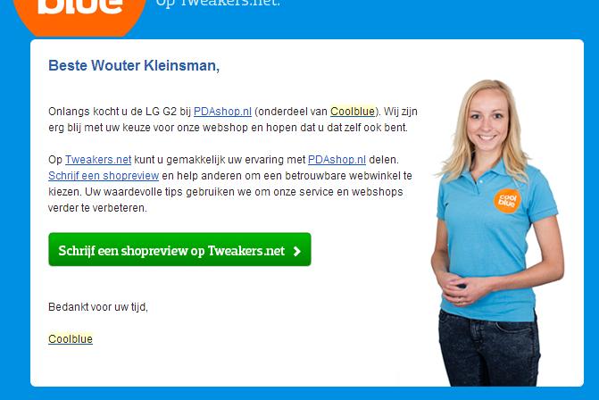 Coolblue en hun  e-mail marketing techniek mailing 3
