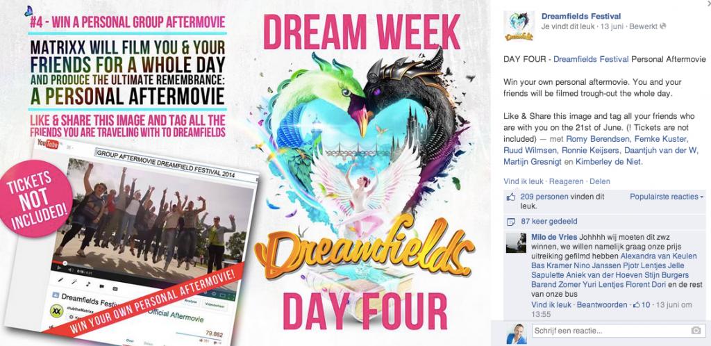 Dreamfields - Facebook campagne voor aandacht