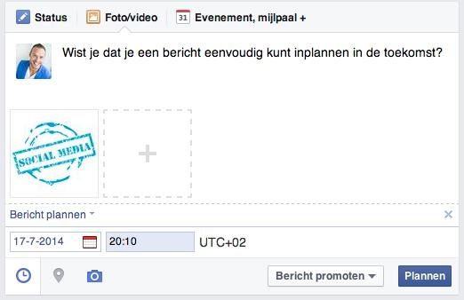 Facebook-marketing bericht inplannen