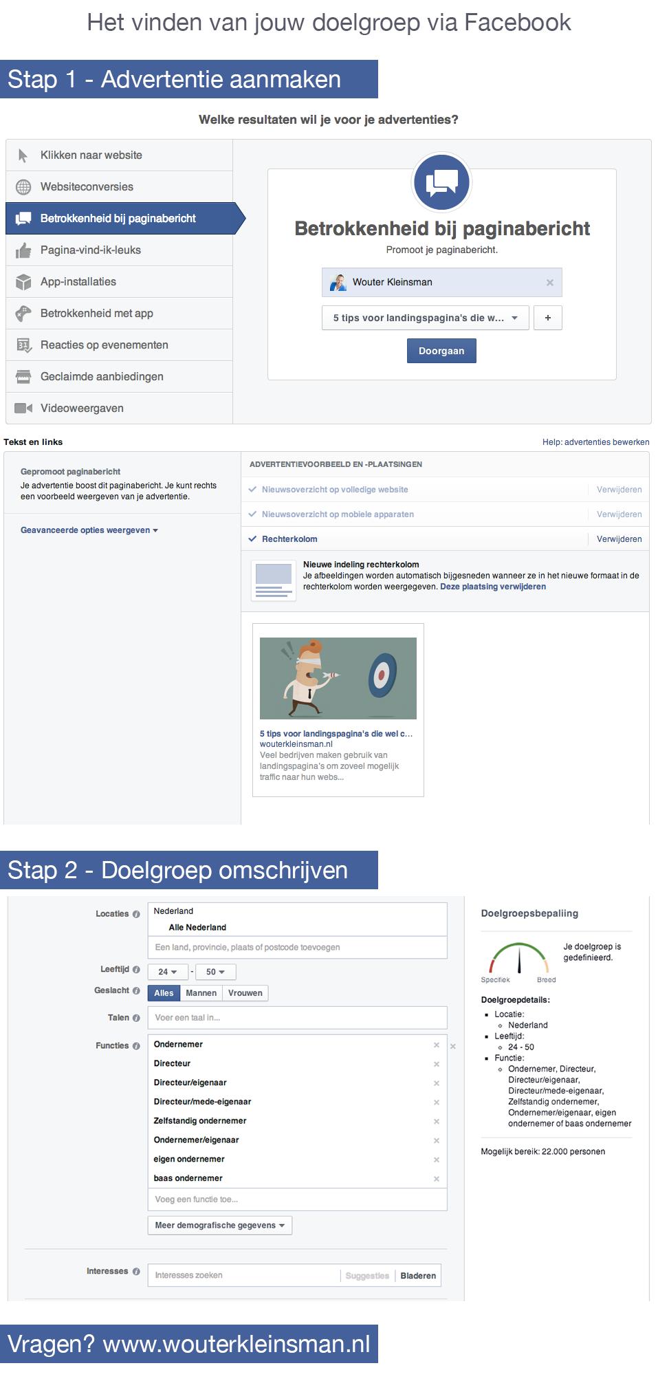Vinden van jouw doelgroep via Facebook
