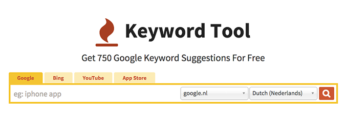 Online-marketingtool Keyword Tool