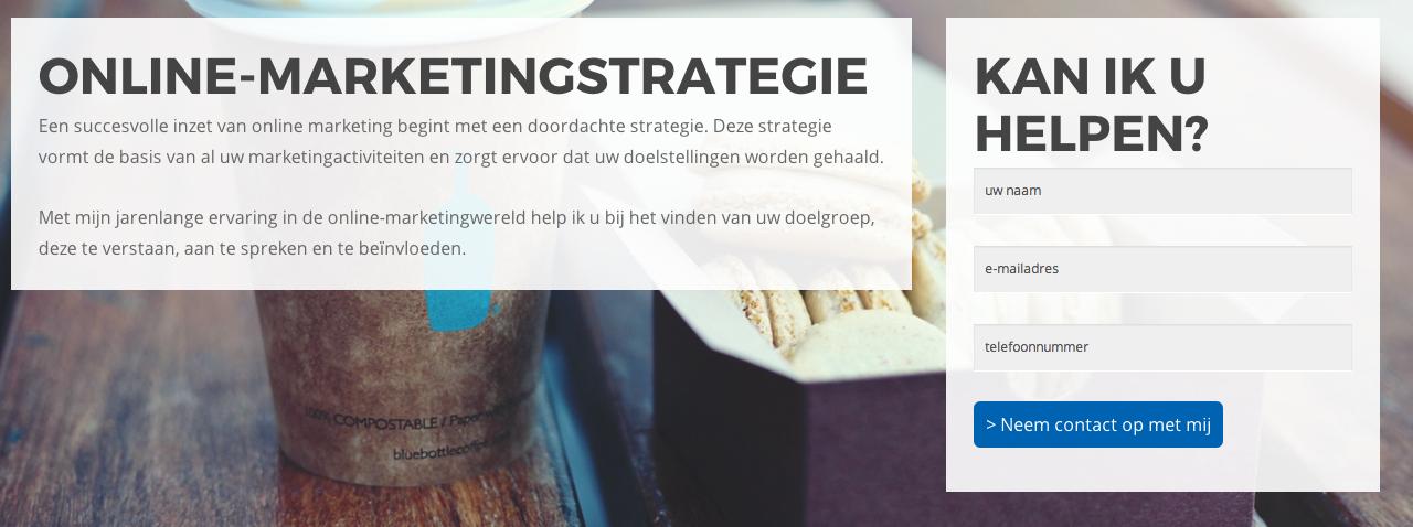 Contactformulier online-marketingstrategie