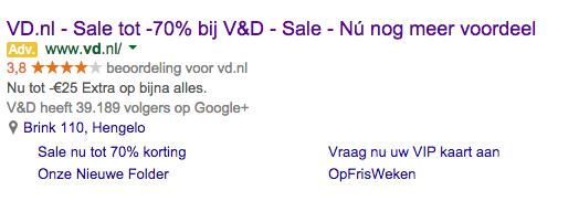 Betaalde zoekresultaten Google Adwords