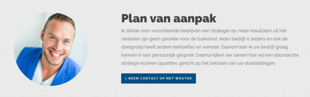 sociale online marketing - contactformulier