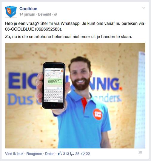 sociale online marketing - coolblue