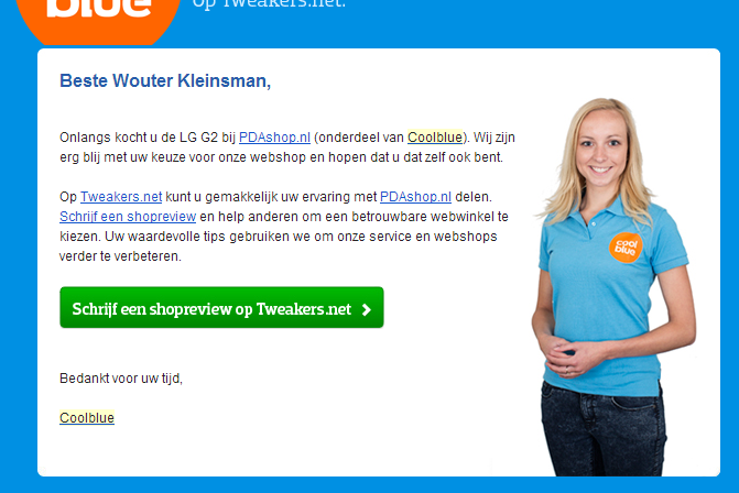 Coolblue referentie verzoek
