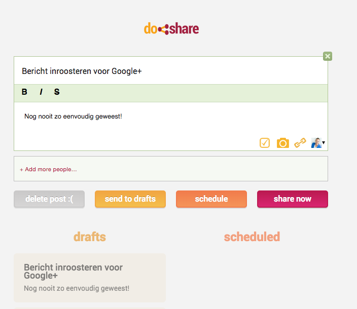 Social-mediatool - Do Share voor Google Plus
