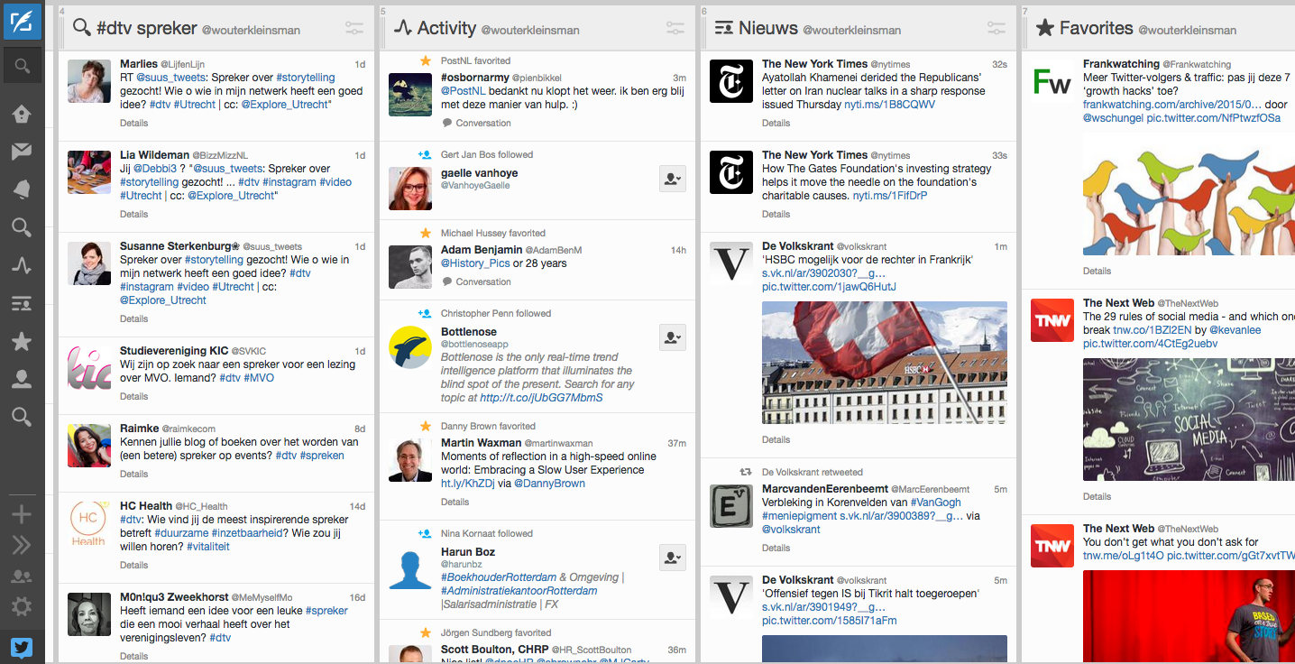 Social-mediatool Tweetdeck