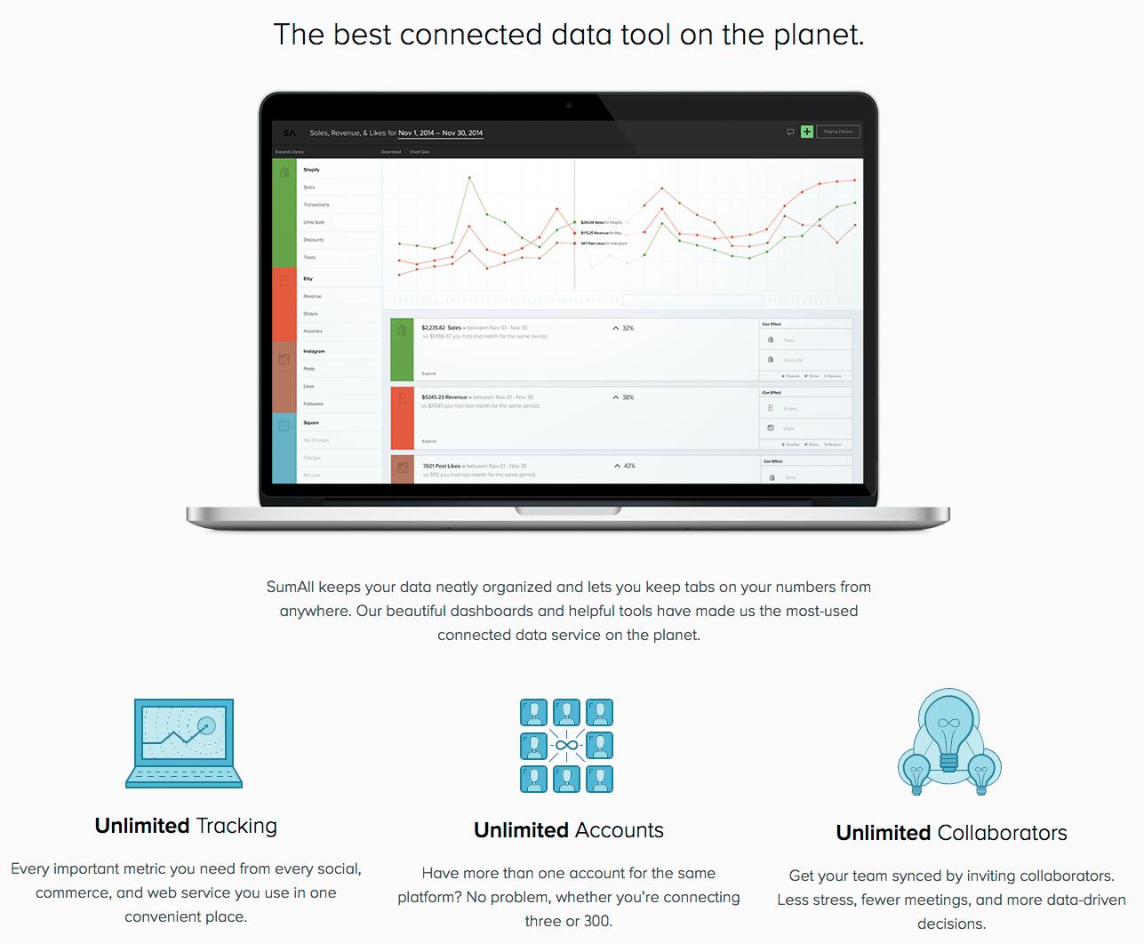 Sumall---Social-media-en-E-commerce-dashboard
