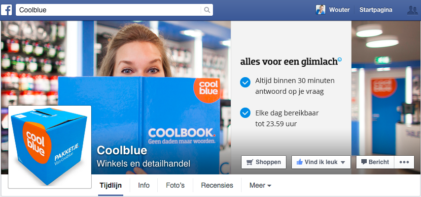 Coolblue en de reactie policy via Facebook