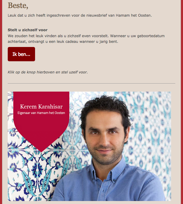 Stel jezelf voor e-mailmarketingcampagne