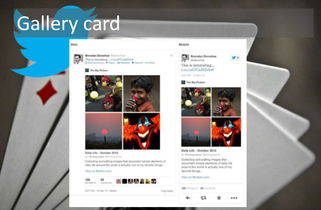 Twitter gallery card