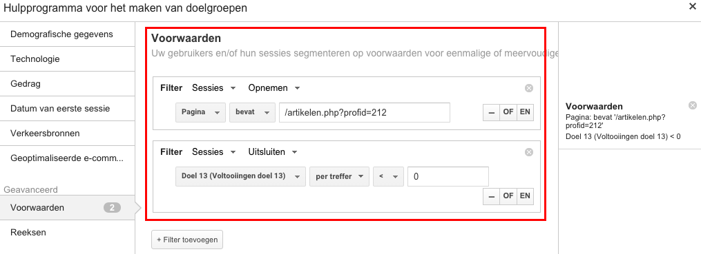 google-analytics-remarketing-filter-doelen