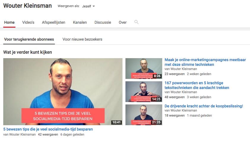 Wouter Kleinsman online marketeer en social media marketeer vlogger