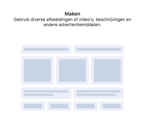 Facebook dynamisch advertentiemateriaal