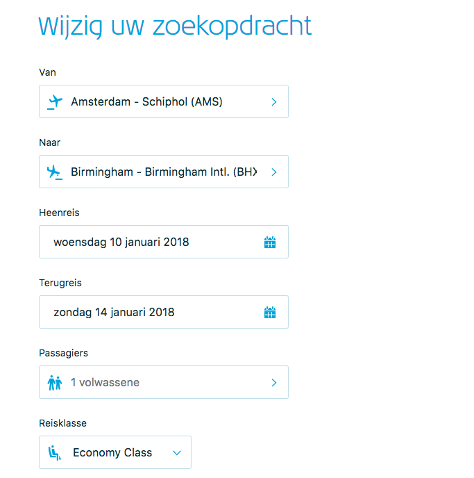 KLM vliegticket boeken - online marketing
