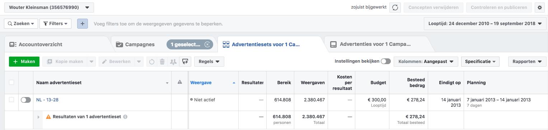 Facebook adverteren voor bedrijven - gouden tijden